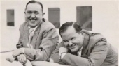 LAUREL and HARDY sailing to England 1932