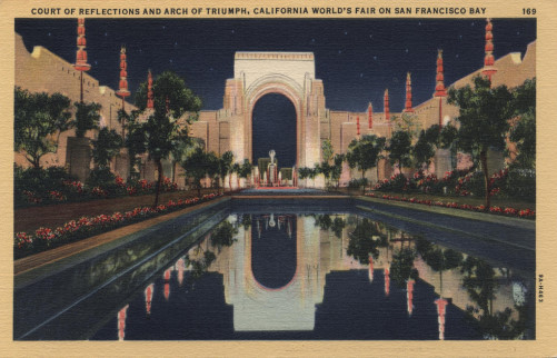 GOLDEN GATE EXPOSITION 1940 night