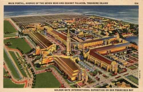 GOLDEN GATE EXPOSITION 1940 aerial