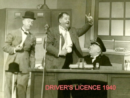LAUREL and HARDY DRIVER'S LICENCE