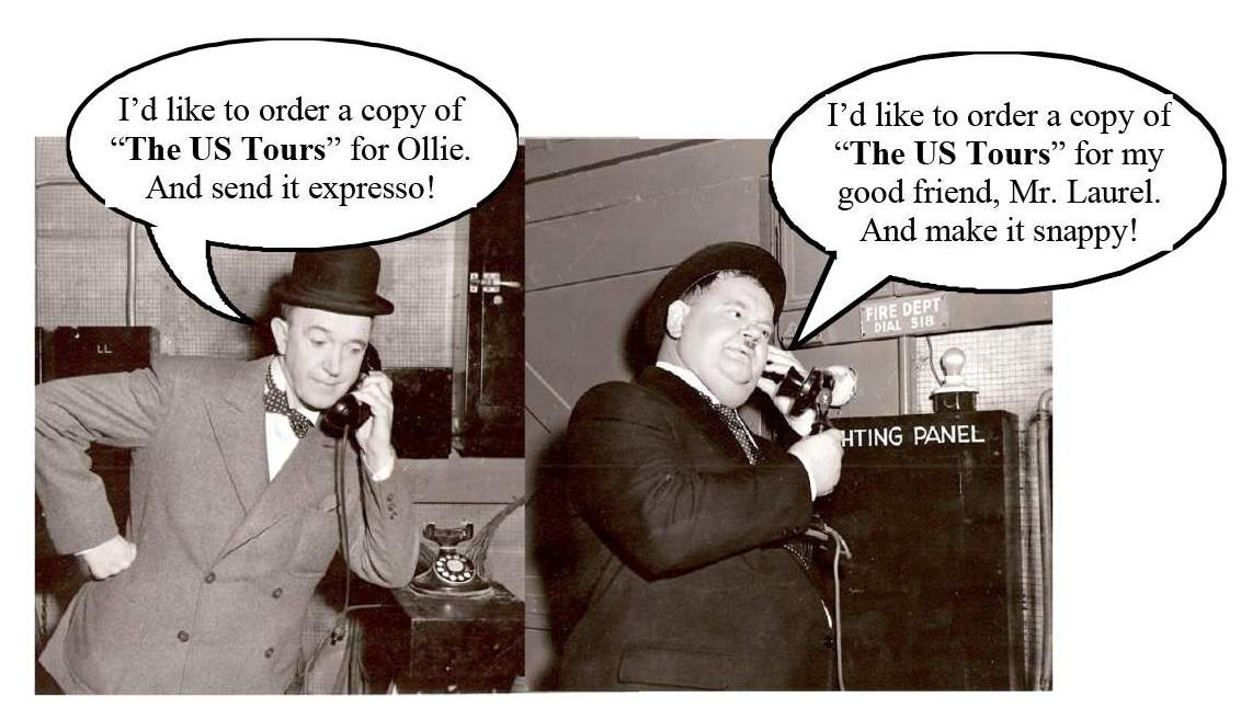 LAUREL HARDY BOOKS US Tours phone gag