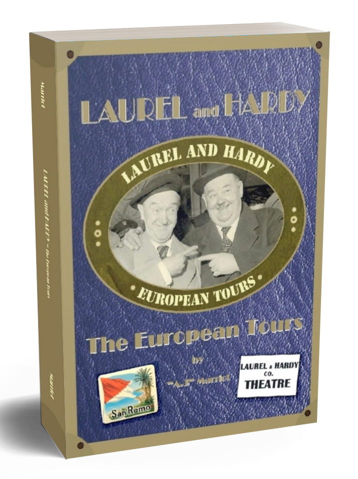 LAUREL HARDY European Tours book A.J Marriot.