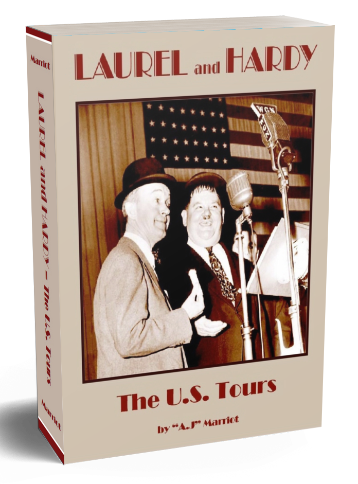 LAUREL and HARDY Books US American Tours First Edition A.J Marriot